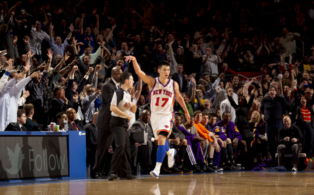 Jeremy Lin after big three against the Los Angeles Lakers