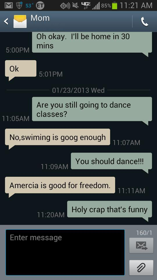 My mom is enjoying the benefits of her U.S. citizenship