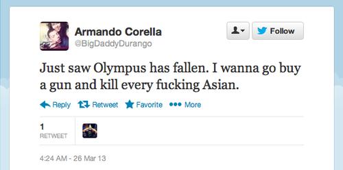 Armando Corella Racist Tweet