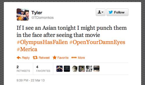 Tyler Domonkos Racist Tweets