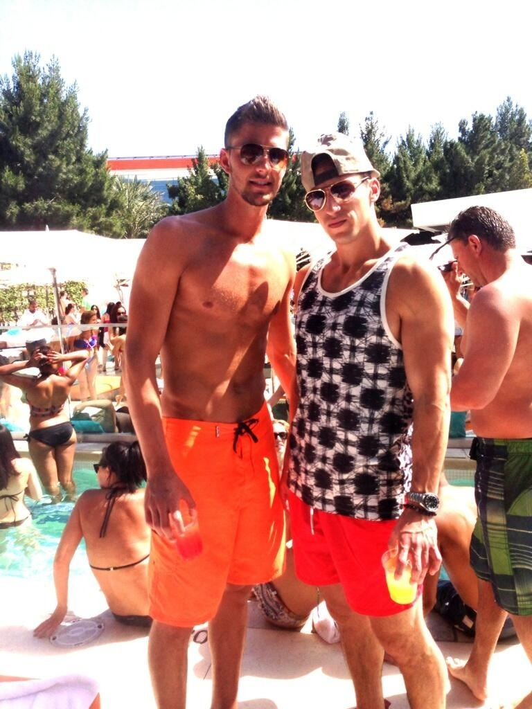 Chandler Parsons Shirtless Pool Party Stuarte