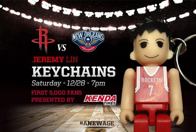 jeremy lin keychain rockets game