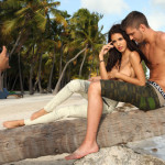 shirtless Chandler Parsons models ashley sky