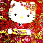 Chinese red envelope hello kitty in Tradition