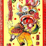 red envelope dragon dance