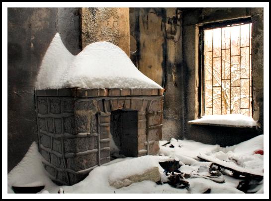 winter inside indoors snow