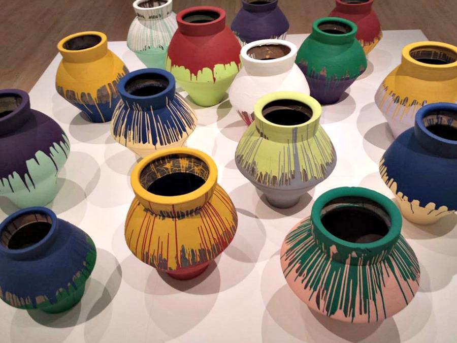 Ai Weiwei Colored Vases Brooklyn Museum Stuarte