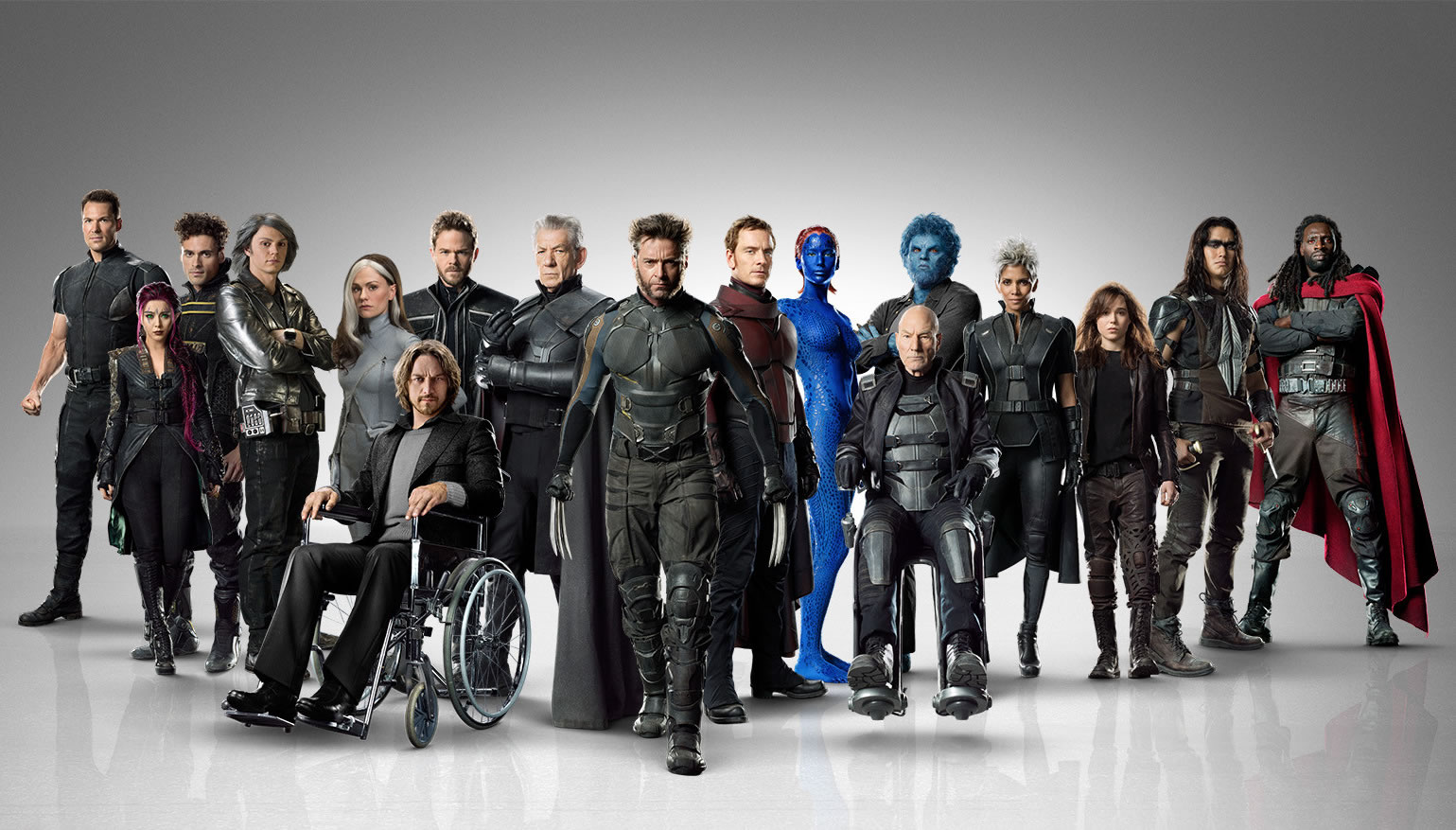 All the characters from X-Men DOFP