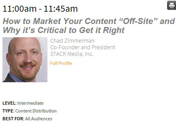 Market Content Offsite at Content Marketing World