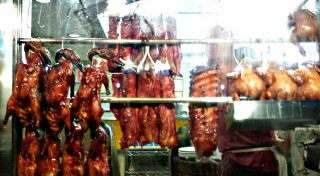 Roasted duck and chicken in Chinatown windows