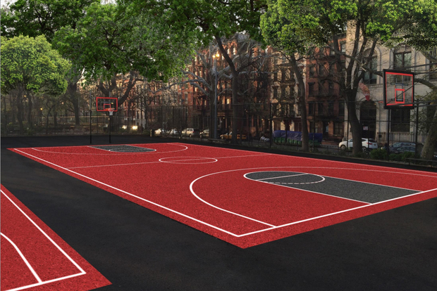 New Basketball courts at Tompkins Square Park