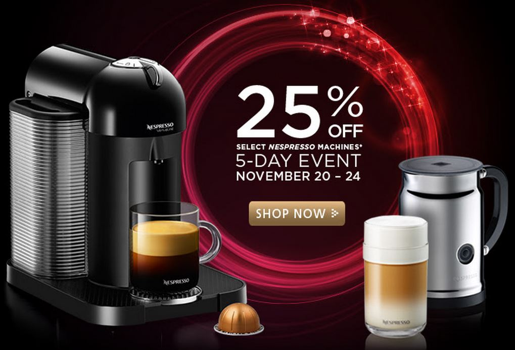 nespresso sale when are nespresso machines on sale. Black Bedroom Furniture Sets. Home Design Ideas