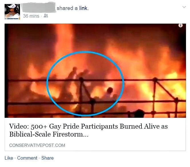Gay Pride burned alive in Taiwan water park