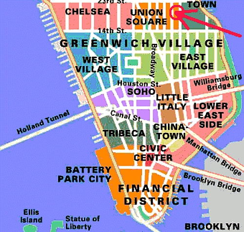 What is considered downtown in New York And where is midtown and