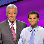 Alex Trebek and Matt Jackson on Jeopardy