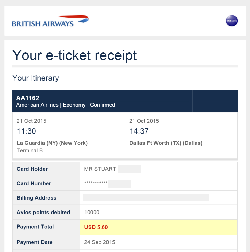 British Airways avios e-ticket cancel without penalty