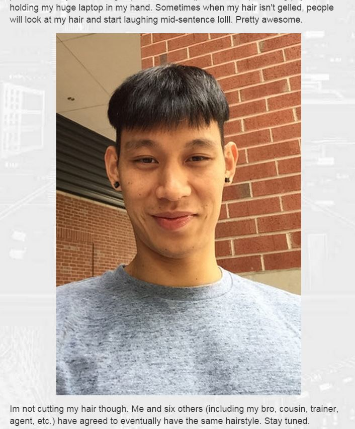 Jeremy Lin explains his bowlcut