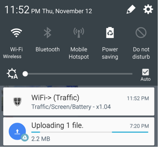 Google Drive notification endless uploading file