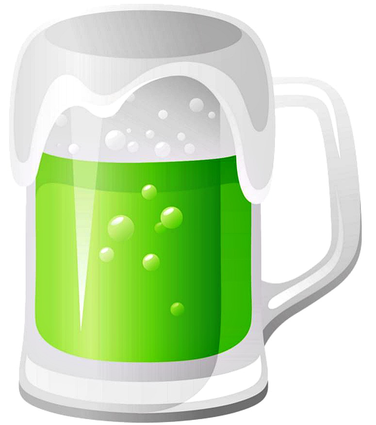 Green beer causes green poop