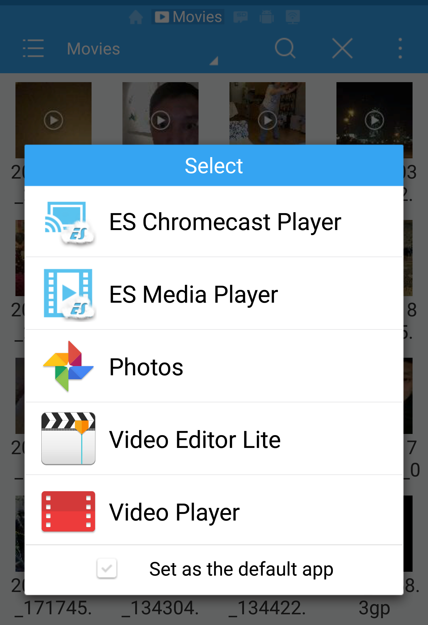 Chromecast ES video player