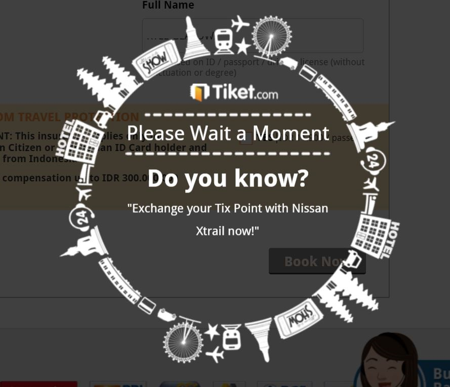 tiketcom searching for tickets