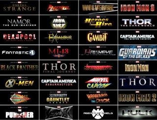 Marvel Logos for upcoming movies