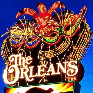 The Orleans hotel and casino neon sign