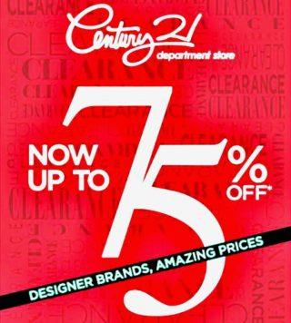 Century21 Clearance Sale