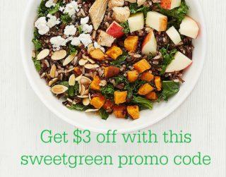sweetgreen promo code harvest bowl
