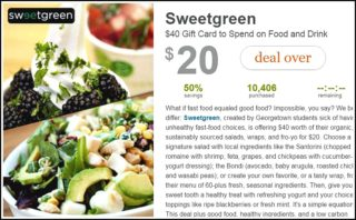 sweetgreen deal on groupon