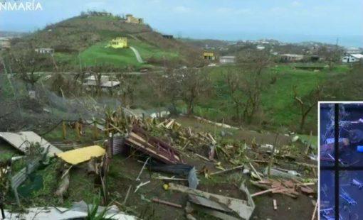 Hurricane Maria's landfall to Vieques