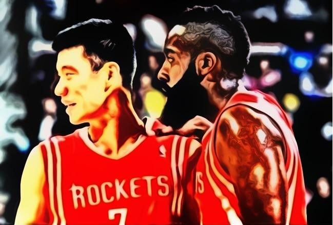 jeremy lin and james harden houston rockets