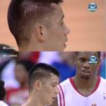 Jeremy Lin elbowed, gets huge bump on head