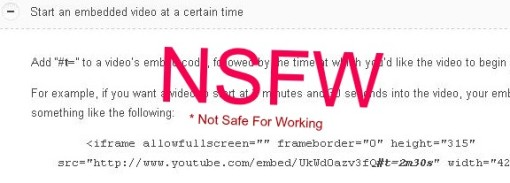 Start Embeded YouTube at Certain Time