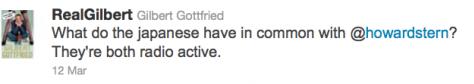 Gilbert Gottfried racist Tweets Japanese Tsunami