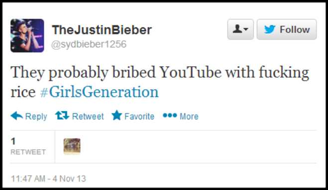 Girls Generation Racist-Tweets Youtube Awards sydbieber1256