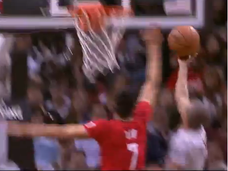 Jeremy Lin blocks Tony Parker