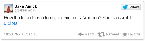 Miss America Racist Tweets Jake Amick