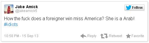 Miss America Racist Tweets Jake Amick