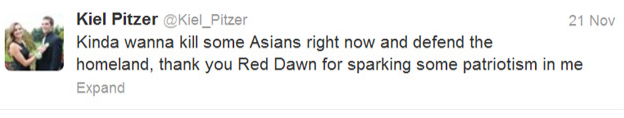 Red Dawn Kiel Pitzer Racist Tweets