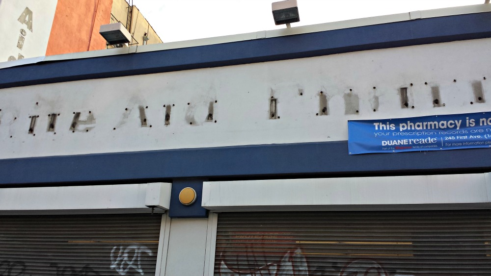 Rite Aid closes in East Village