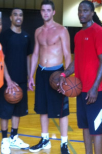 chandler parsons shirtless gym
