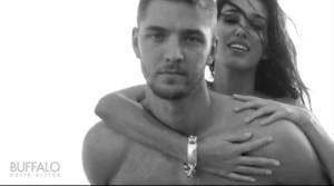 shirtless Chandler Parsons models BW piggyback