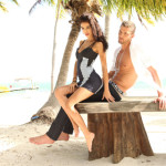 shirtless Chandler Parsons models beach