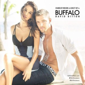 shirtless Chandler Parsons models buffalo