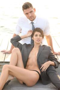 shirtless Chandler Parsons models timberlake