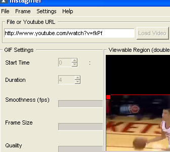 convert youtube video to GIF file