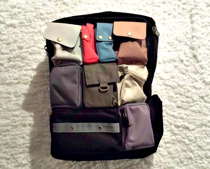 Anello multi-color, multi-pocket backpack