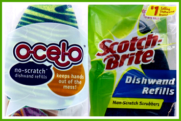 Can I use Scotch Brite dishwand refills with a Ocelo dishwands? And vice versa?