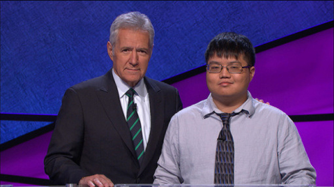 Arthur Chu and Alex Trebek